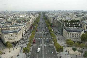 巴黎时尚的中心香榭丽舍大道