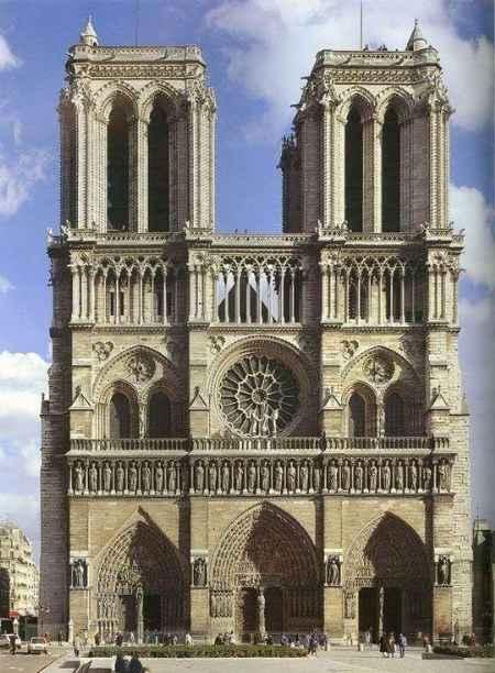 欧洲建筑史上的标志:法国巴黎圣母院