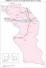 新疆托克逊县地图