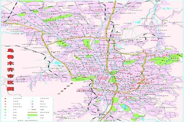 新疆乌鲁木齐市街区地图