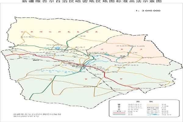 新疆哈密地区政区地图
