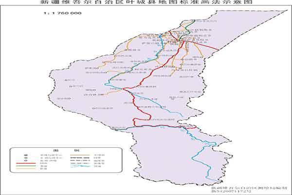 新疆叶城县地图