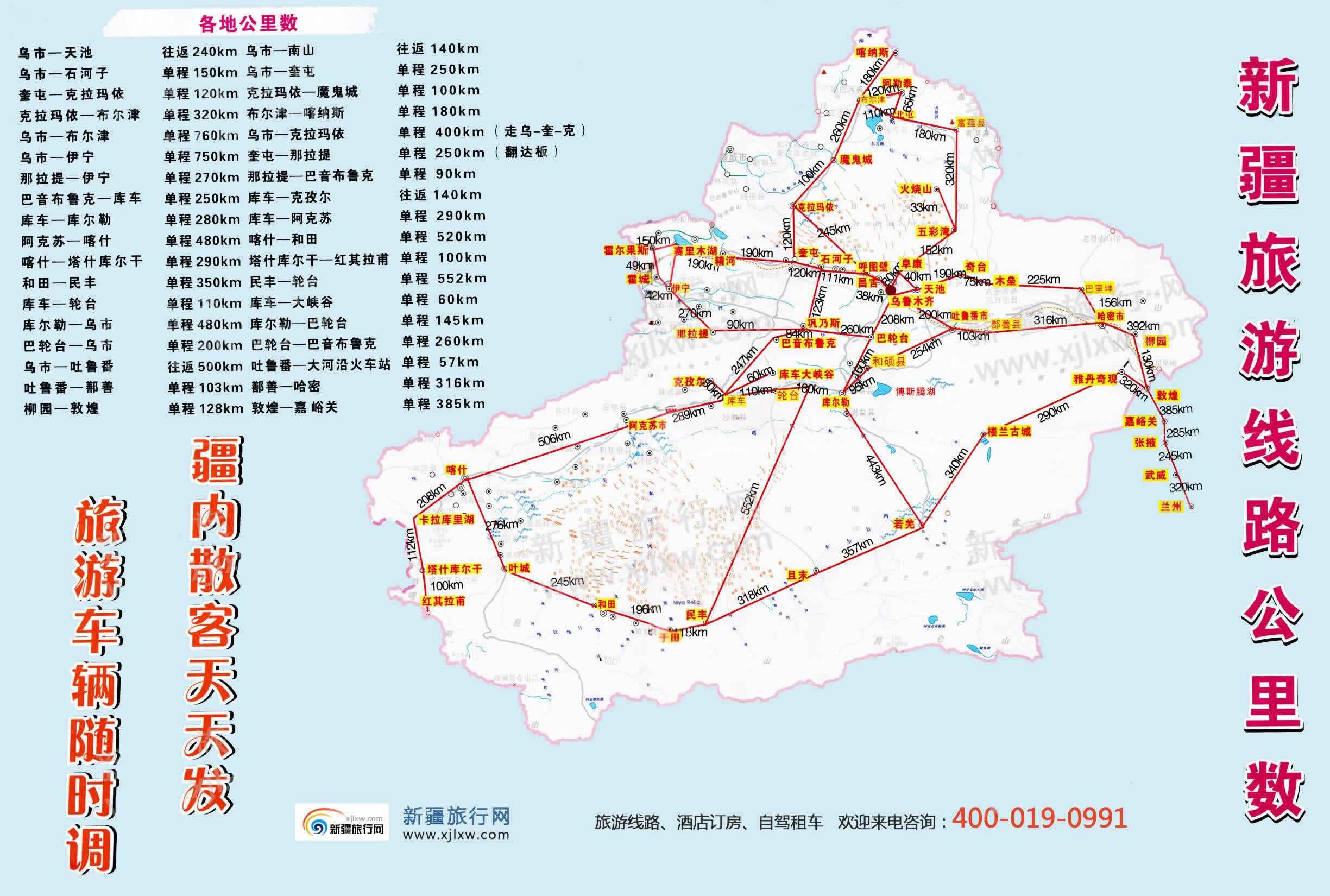 新疆旅游线路图_新疆旅行网