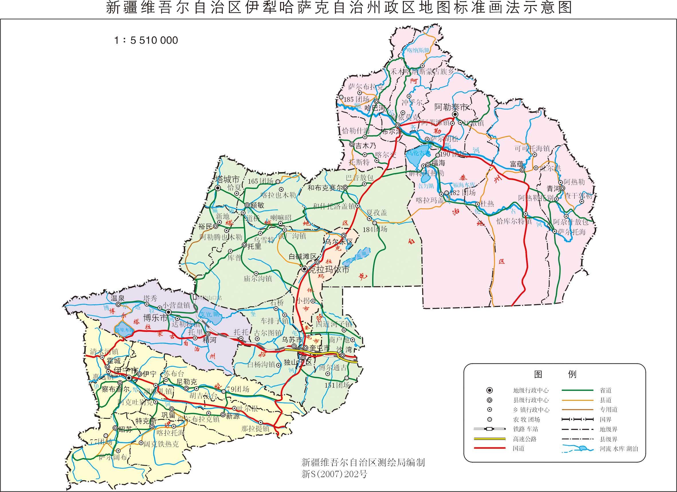 新疆伊犁州政区地图