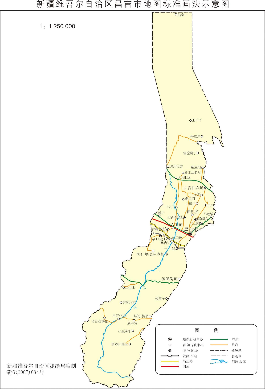 新疆昌吉市地图