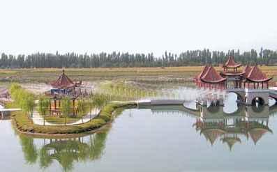 新疆阿克苏塔里木祥龙湖风景区
