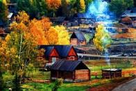 新疆阿勒泰图瓦村落
