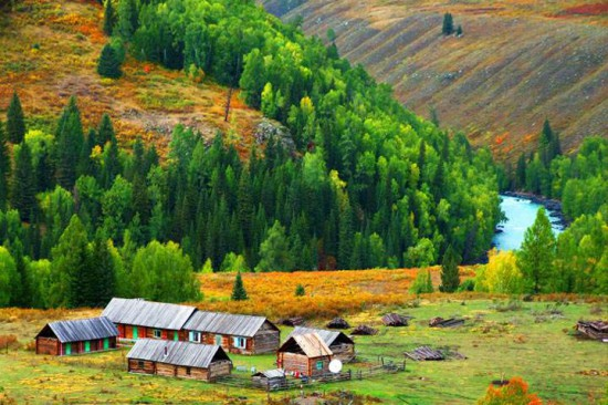 新疆阿勒泰禾木村,图一