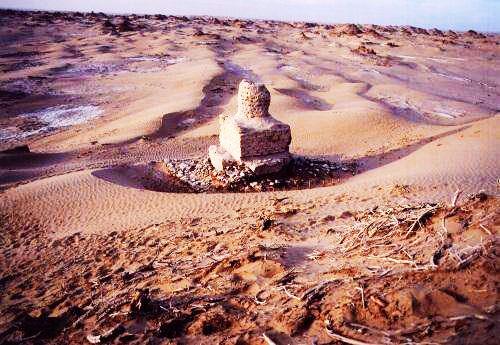 尼雅遺址位于新疆和田地區民豐縣境內,現在地處塔克拉瑪干沙漠腹地