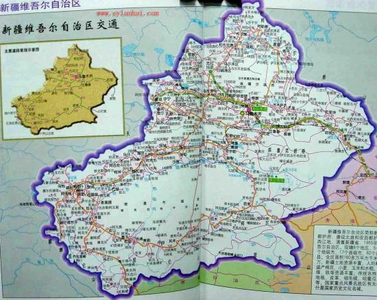 新疆旅游地图 库木塔格