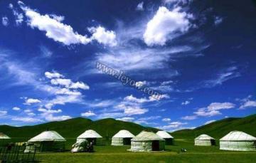 关于蒙古族的可爱简单圆形图案