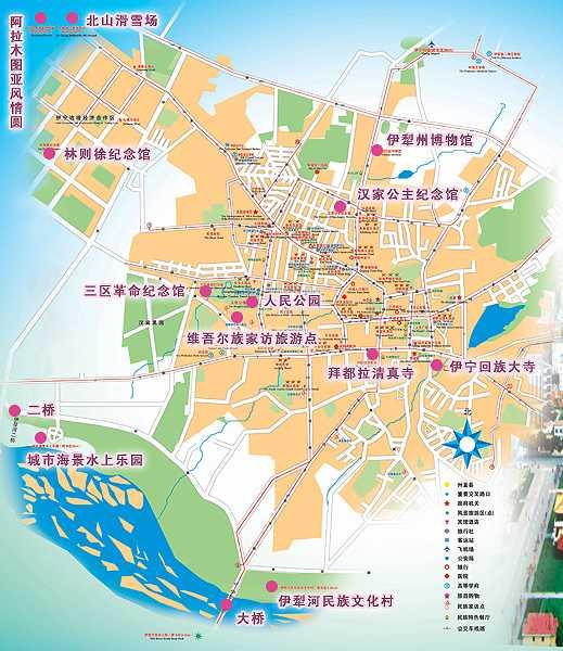 塔城市景点地图