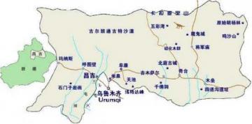 新疆旅游手绘地图